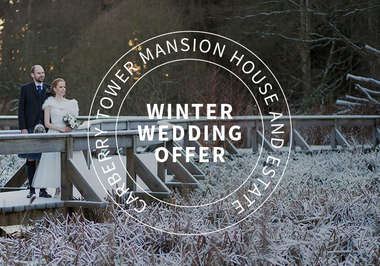 Winter Wedding offer at Carberry Tower