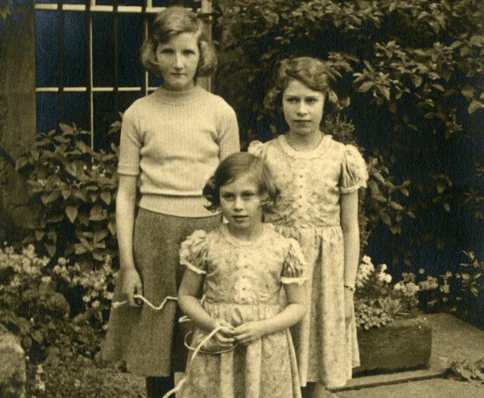 Princesses Elizabeth and Margaret (left and centre)