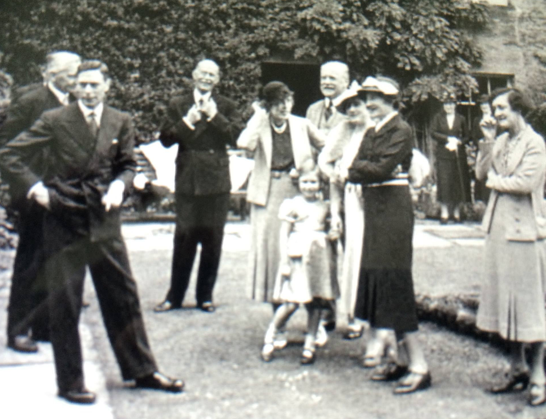 King George VI on our Champagne Terrace
